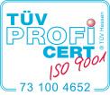 TÜV Logo ISO 9001